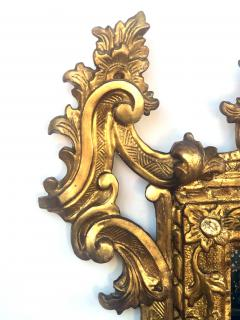 Well carved English George II Style Giltwood Mirror with Dramatic Crest - 1968429