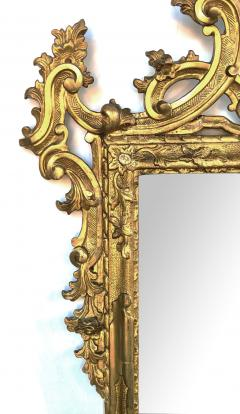 Well carved English George II Style Giltwood Mirror with Dramatic Crest - 1968430