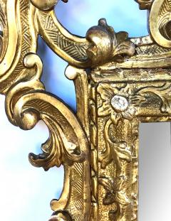 Well carved English George II Style Giltwood Mirror with Dramatic Crest - 1968432