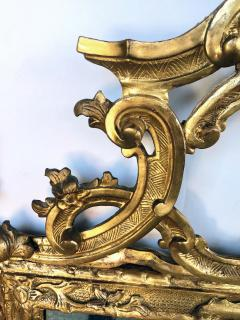 Well carved English George II Style Giltwood Mirror with Dramatic Crest - 1968433