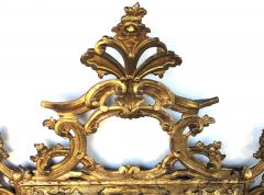 Well carved English George II Style Giltwood Mirror with Dramatic Crest - 1968434