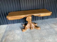 Wendell Castle American Studio style Zebra Wood Two Drawer Console Desk - 1267119