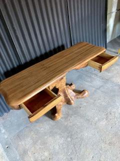 Wendell Castle American Studio style Zebra Wood Two Drawer Console Desk - 1267125