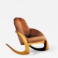 Wendell Keith Castle A Crescent Rocker by Wendell Castle in Rare Macassar Ebony - 456496