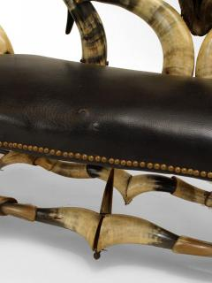 Wenzel Friedrich Rustic American Victorian Steer Horn Chaise - 547209