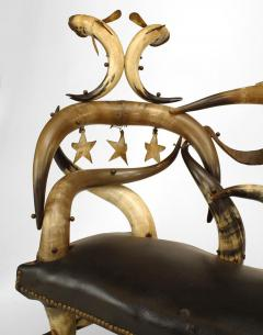 Wenzel Friedrich Rustic American Victorian Steer Horn Chaise - 547211