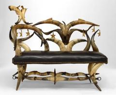 Wenzel Friedrich Rustic American Victorian Steer Horn Chaise - 547216
