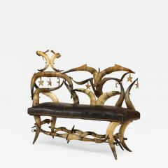 Wenzel Friedrich Rustic American Victorian Steer Horn Chaise - 548145