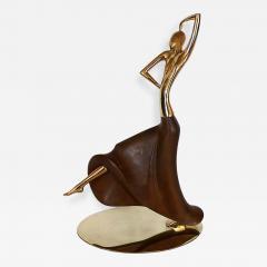 Werkst tte Hagenauer Early Brass Walnut Dancing Figure by Hagenauer - 301815