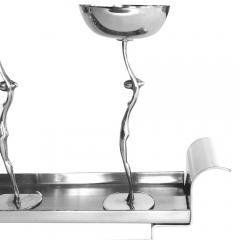 Werkst tte Hagenauer Figural Art Deco Cordial Cups Tray by Hagenauer - 185659