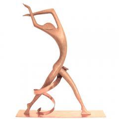 Werkst tte Hagenauer Impressive Hagenauer Walnut Copper Josephine Baker Sculpture - 185097
