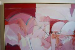 Wesley E Johnson Huge Wesley Johnson Abstract Oil Painting in Variation of Pink - 1036415