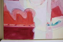 Wesley E Johnson Huge Wesley Johnson Abstract Oil Painting in Variation of Pink - 1036417