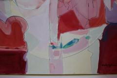 Wesley E Johnson Huge Wesley Johnson Abstract Oil Painting in Variation of Pink - 1036421