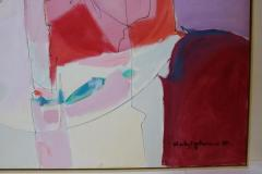 Wesley E Johnson Huge Wesley Johnson Abstract Oil Painting in Variation of Pink - 1036426