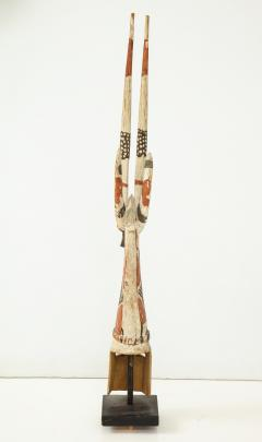 West African carved and painted fertility mask - 972326