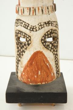 West African carved and painted fertility mask - 972333