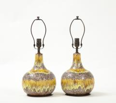 West German Yellow Brown Glazed Lamps - 2132353