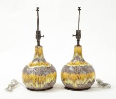 West German Yellow Brown Glazed Lamps - 2132355