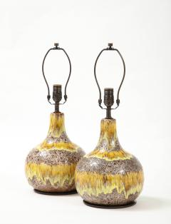 West German Yellow Brown Glazed Lamps - 2132356