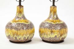 West German Yellow Brown Glazed Lamps - 2132357