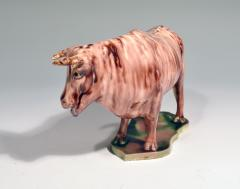 Whieldon type Rare Lead glaze Creamware Model of a Cow - 1702163