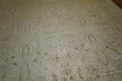 White Brown Antique Persian Tabriz Rug rug no j1881 - 1505621