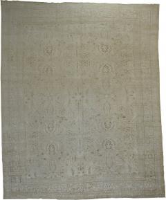 White Brown Antique Persian Tabriz Rug rug no j1881 - 1509383
