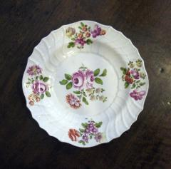 White plate with Center Rose - 1041639
