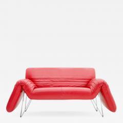 Wilfried Totzek Red De Sede Leather Sofa by Wilfried Totzek 1988 - 551759