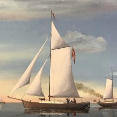Wilhelm Erichsen Sailing Ships Lighthouse Danish Early 1900s - 1701883