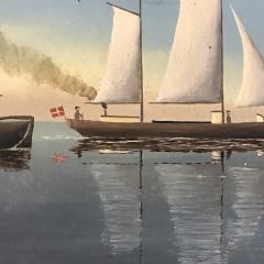 Wilhelm Erichsen Sailing Ships Lighthouse Danish Early 1900s - 1701885