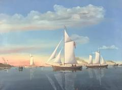 Wilhelm Erichsen Sailing Ships Lighthouse Danish Early 1900s - 1711186