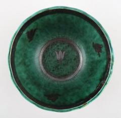 Wilhelm K ge Argenta vase decorated with leaves - 1386205