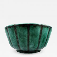 Wilhelm K ge Argenta vase decorated with leaves - 1387572