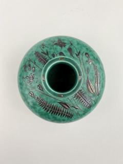 Wilhelm K ge Gustavsberg Argenta Squat Vase - 1728680
