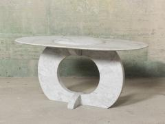 Will West Unique Carrara Marble Coffee Table - 1014289