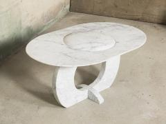 Will West Unique Carrara Marble Coffee Table - 1014291