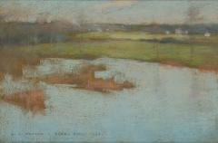 Willard Leroy Metcalf Grez View of a Village 1885 - 308557