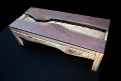 William Alburger A Crack in Time Bespoke Coffee Table Mixed Media Wood Eco Sculpture - 1118797