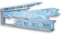 William Alburger Blue Yacht 8ft Bespoke Headboard Mantel Shelf Wall Eco Sculpture - 1122892