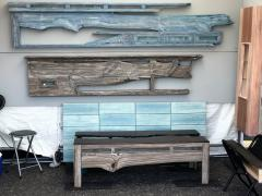 William Alburger Blue Yacht 8ft Bespoke Headboard Mantel Shelf Wall Eco Sculpture - 1122896