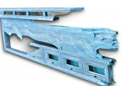 William Alburger Blue Yacht 8ft Bespoke Headboard Mantel Shelf Wall Eco Sculpture - 1122897