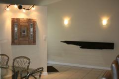 William Alburger Dinosaur Tail Fossil 7 ft Bespoke Mantel Headboard Shelf Wall Eco Sculpture - 1123197