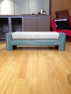 William Alburger Wood Leather Bench Table Alburger Design Wood Art Pong Gaddi Leather Work - 1137028