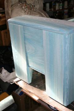 William Alburger Wood Leather Bench Table Alburger Design Wood Art Pong Gaddi Leather Work - 1137029