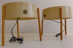 William Bill Lam Pair of Molded Fiberglass Light Tables by Bill Lam - 761301