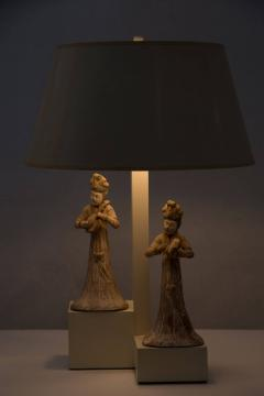 William Billy Haines Armature Lamp with Asian Figures Designed by William Haines - 185054