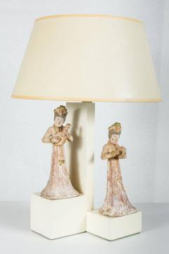 William Billy Haines Armature Lamp with Asian Figures Designed by William Haines - 185055