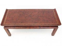 William Billy Haines Chinoiserie Style Leather Cocktail Table by William Haines - 184980